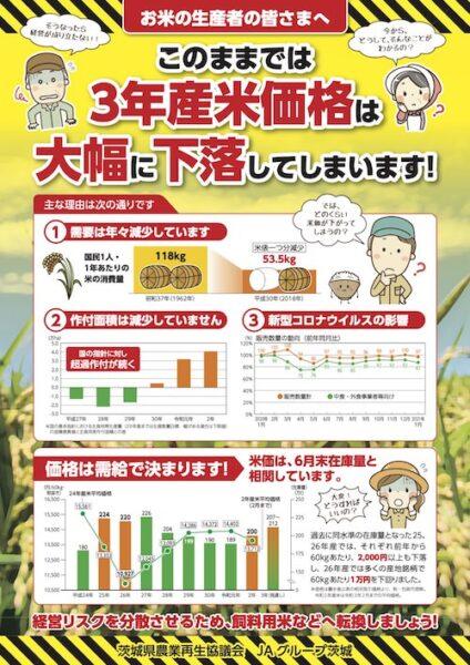 主食用米から飼料用米へ転換しましょう
